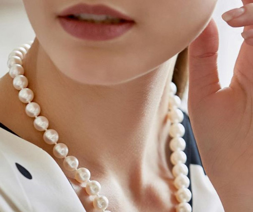 Radiant Pearl Necklace