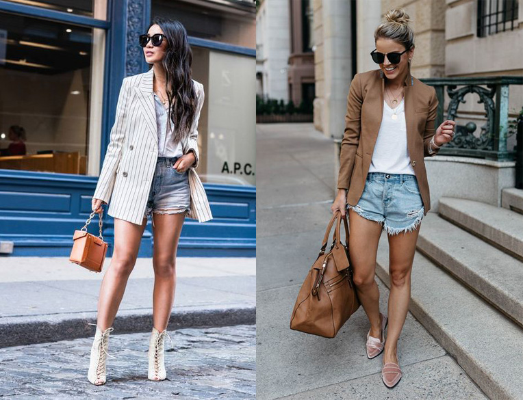 Blazer Denim Shorts