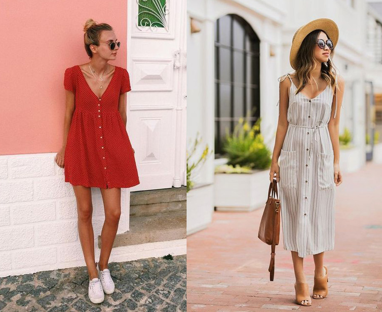 Button Down Dresses