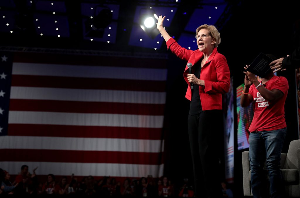 Elizabeth Warren Red and Black