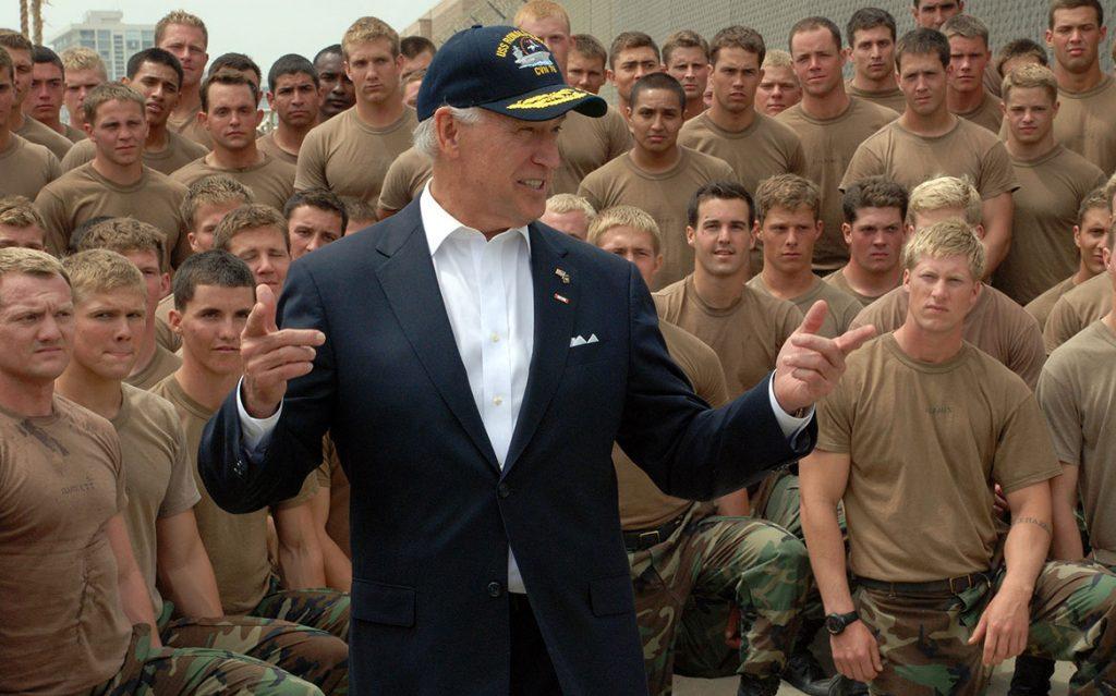 Joe Biden at US Navy