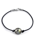 Tahitian South Sea Baroque Pearl Leather Bracelet- Various Sizes