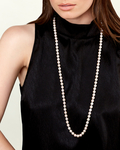 7.5-8.0mm Opera Length Japanese Akoya Pearl Necklace - Secondary Image