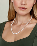 7-8mm Freshwater Pearl Necklace & Earrings - Model Image