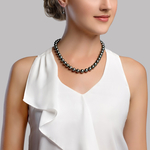 8-10mm Tahitian South Sea Pearl Necklace - AAAA Quality - Model Image