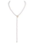8.0-8.5mm Japanese Akoya White Pearl & Diamond Y-Shape Adjustable Necklace - Secondary Image