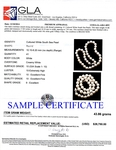 8-10mm White South Sea Pearl Necklace - AAAA Quality - Secondary Image