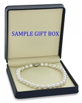 8-10mm White South Sea Pearl Necklace - AAAA Quality - Fourth Image