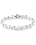 8-9mm White Freshwater Pearl Bracelet - AAA Quality