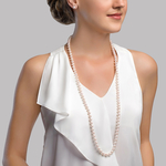 7.0-7.5mm Opera Length Japanese Akoya Pearl Necklace - Secondary Image