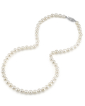 6.0-6.5mm Japanese Akoya White Pearl Necklace- AA+ Quality