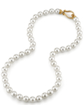 8.5-9.0mm Hanadama Akoya White Pearl Necklace - Secondary Image