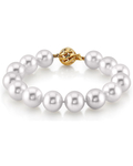 11-12mm White South Sea Pearl Bracelet - AAAA Quality - Model Image