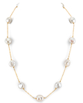 14K Gold Freshwater Pearl Tincup Deborah Necklace - Secondary Image