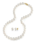 7-8mm Freshwater Pearl Necklace & Earrings - Third Image