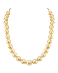 10-12mm Baroque Shaped Golden South Sea Pearl Necklace - AAA Quality