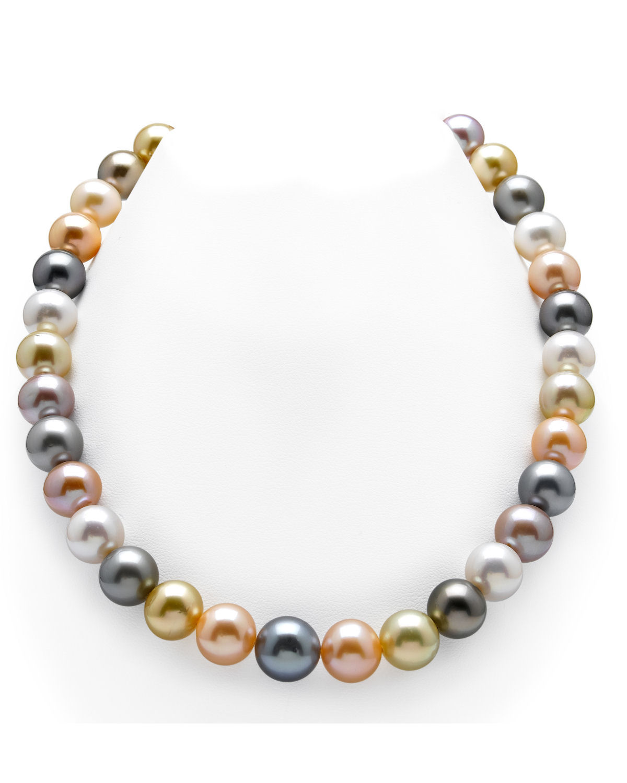 Multi coloured pearl necklace