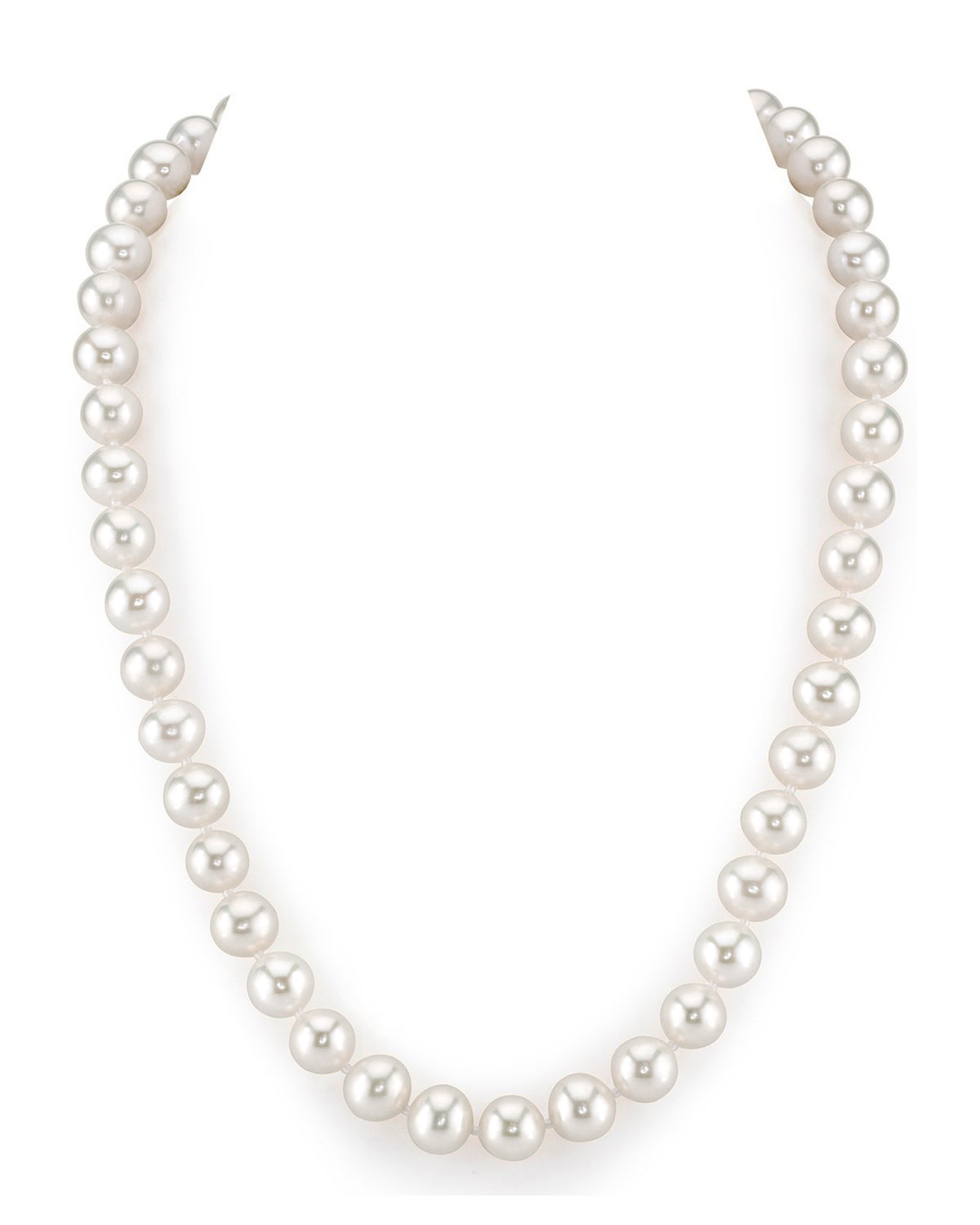 Freshwater Round Shape White Color 10 mm Pearl String