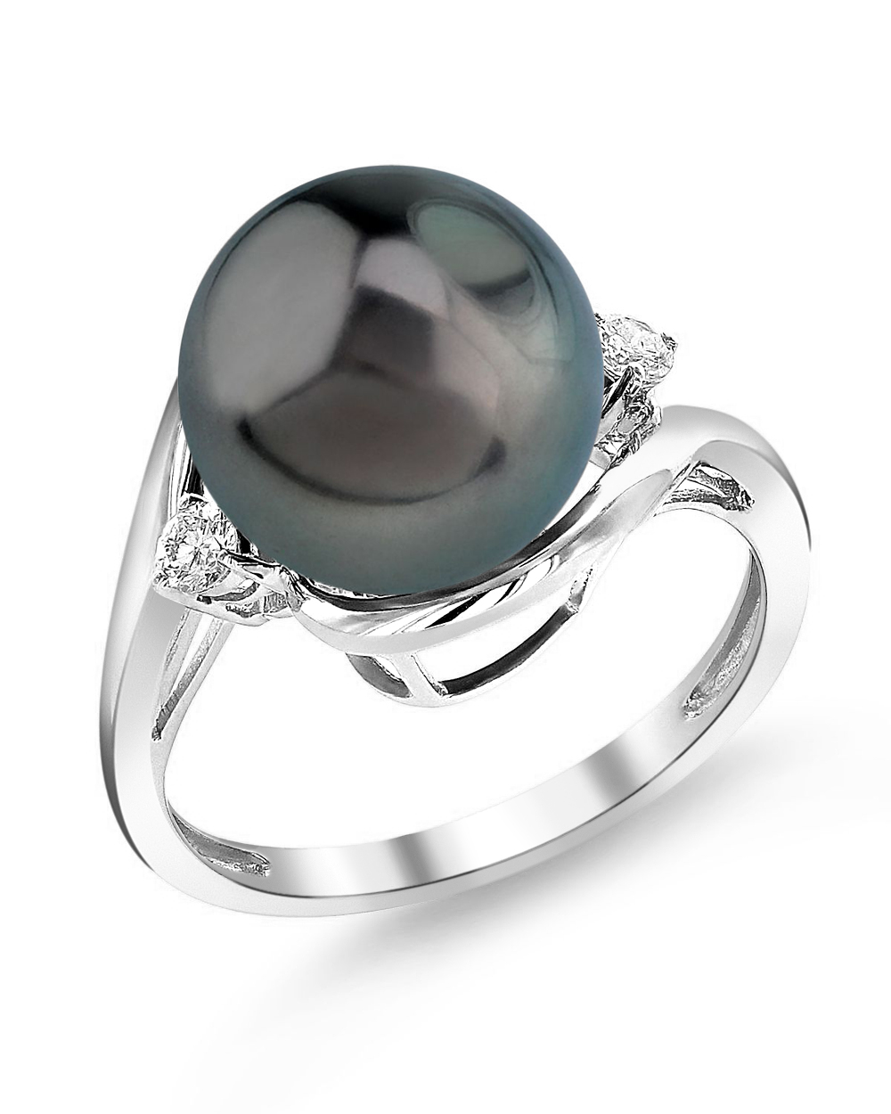 Tahitian South Sea Pearl & Diamond Sia Ring